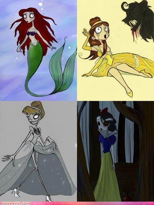 Disney Princesses According To Tim Burton