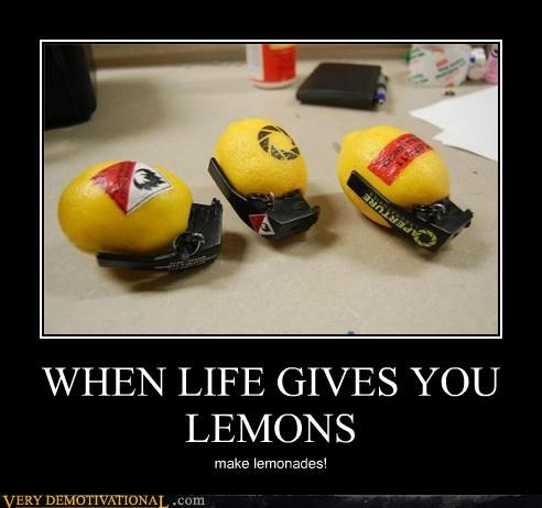 demotivational posters - WHEN LIFE GIVES YOU LEMONS