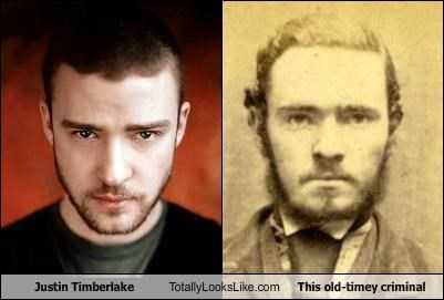 Justin Timberlake Totally Looks Like This Old-Timey Criminal