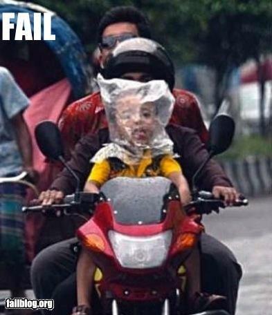 CLASSIC: Baby Helmet FAIL