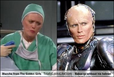 "Blanche From ""The Golden Girls"" Totally Looks Like RoboCop Without His Helmet"