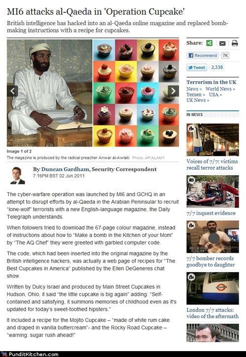al qaeda,britain,cupcakes,MI6,political pictures,spying,terrorism