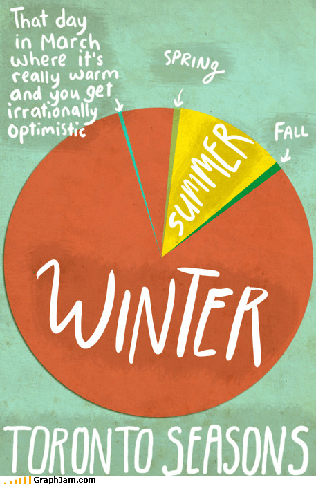 cold,Pie Chart,rainy,seasons,winter