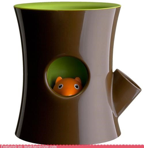 Hiding Squirrel Flower Pot