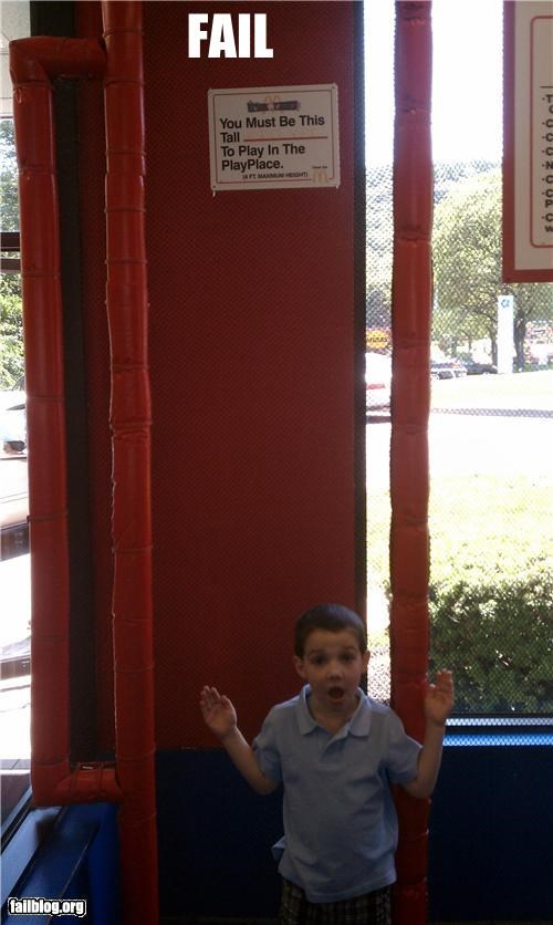 failboat,fast food,g rated,kids,McDonald's,signs,warning