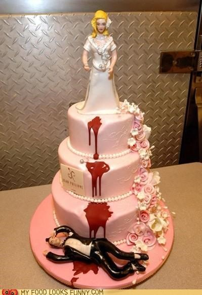 Blood,bride,cake,dead,fall,groom,killer,murder,wedding