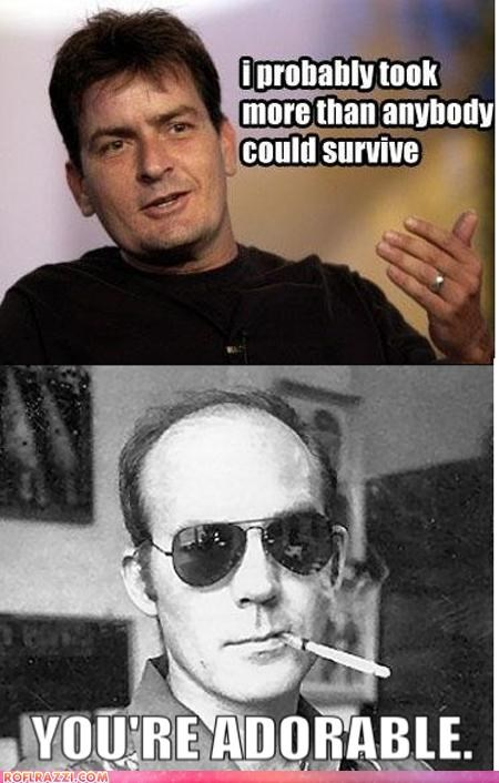 actor,celeb,Charlie Sheen,funny,Hall of Fame,Hunter S Thompson