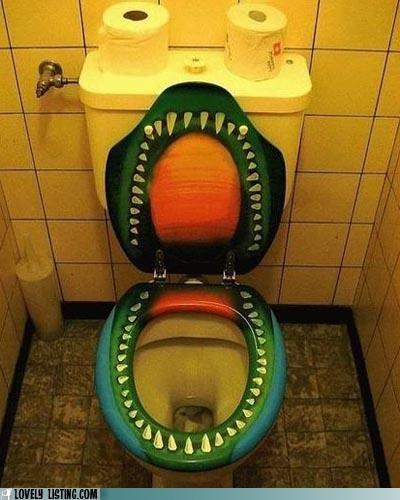 dinosaur,mouth,nasty,toilet