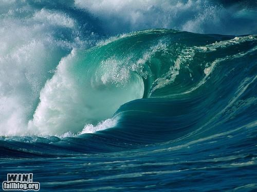 Mother Nature FTW: Awesome Wave WIN