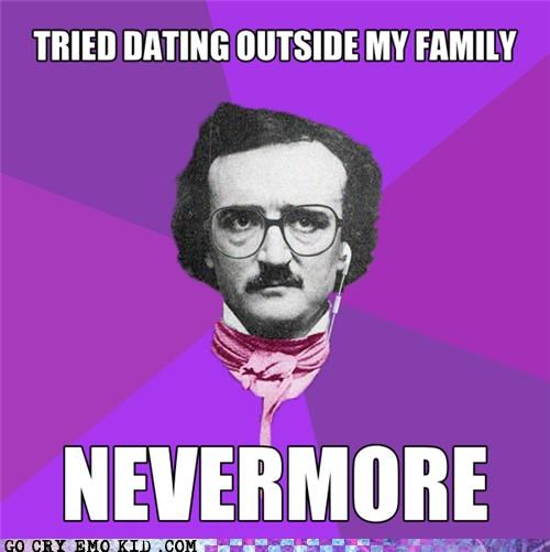hipster poe,hipsterlulz,incest,nevermore