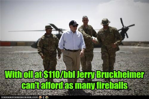 With oil at $110/bbl Jerry Bruckheimer can't afford as many fireballs