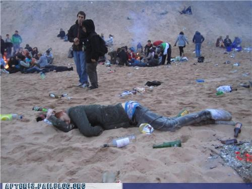 beach,passed out,sand
