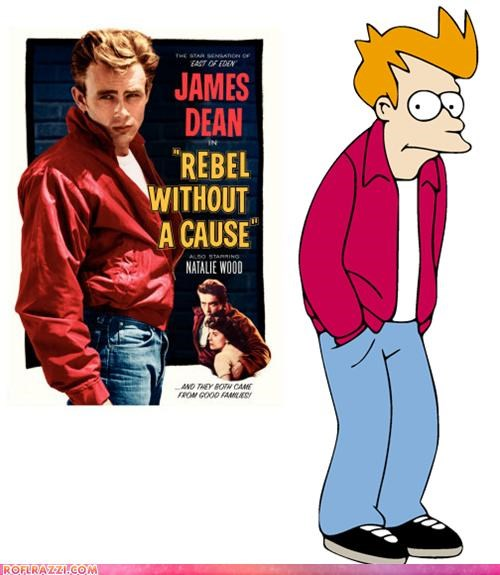 Fry Is James Dean? Mind=BLOWN