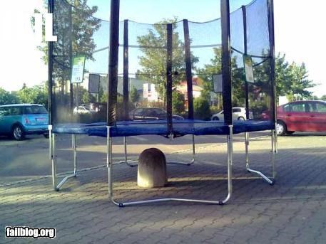 Trampoline Location FAIL