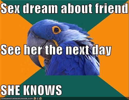 dream,friends,girls,jung,knows,Paranoid Parrot,sex,the worst pun i ever made