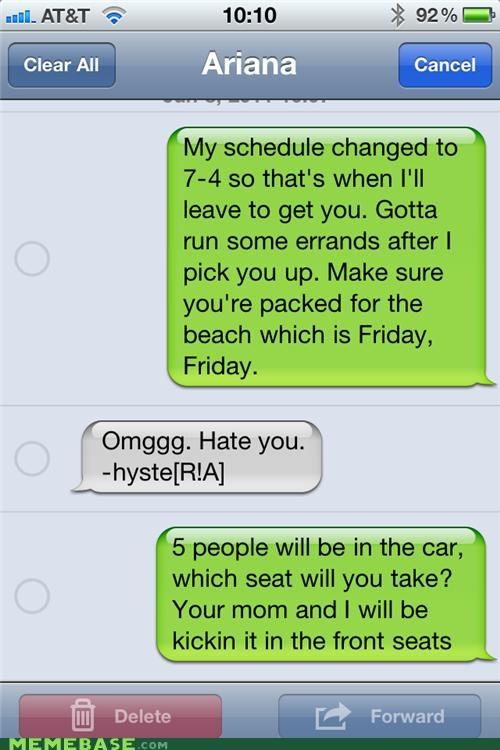 car,FRIDAY,parents,Rebecca Black,seat,troll
