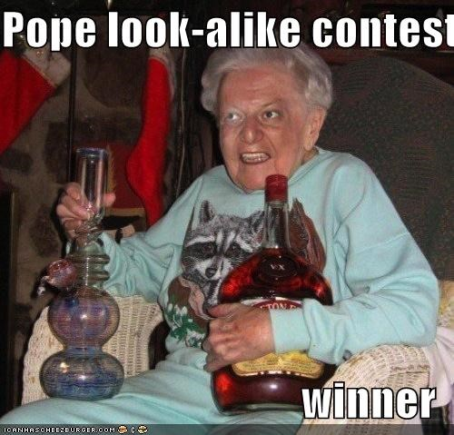 Pope look-alike contest  winner