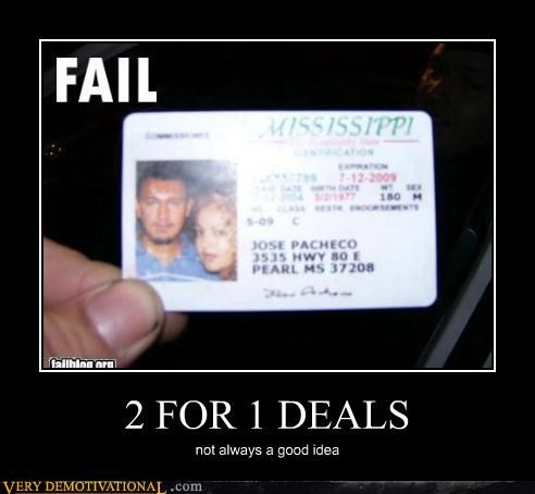 2 FOR 1 DEALS