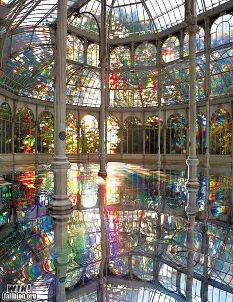 awesome,design,glass,rainbows,reflections,water,windows