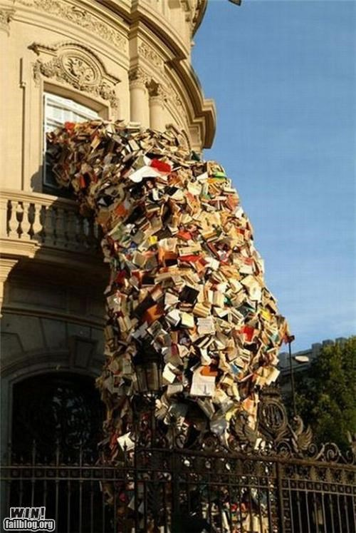 Censored Books Sculpture WIN
