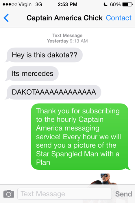 If You Text a Wrong Number, You Better Hope It's Not an Avengers Fan