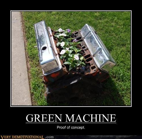 engine,green,hilarious,machine,plants