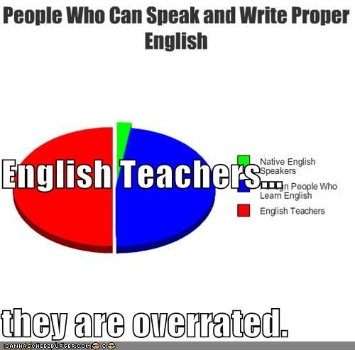 English Teachers... they are overrated.