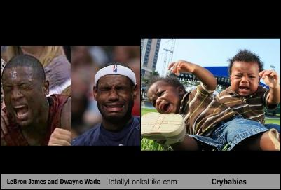 LeBron James and Dwayne Wade Totally Look Like Crybabies
