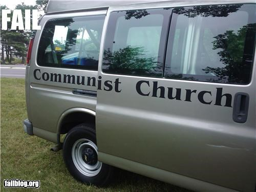 Church Van FAIL