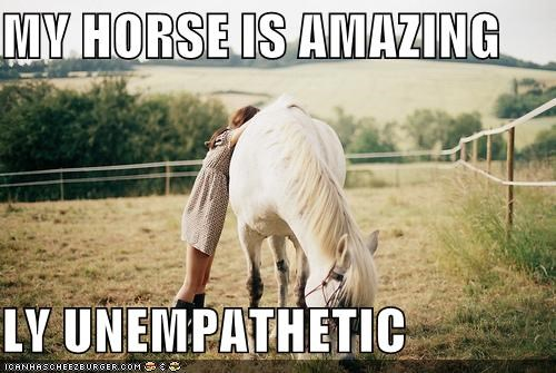 MY HORSE IS AMAZING  LY UNEMPATHETIC