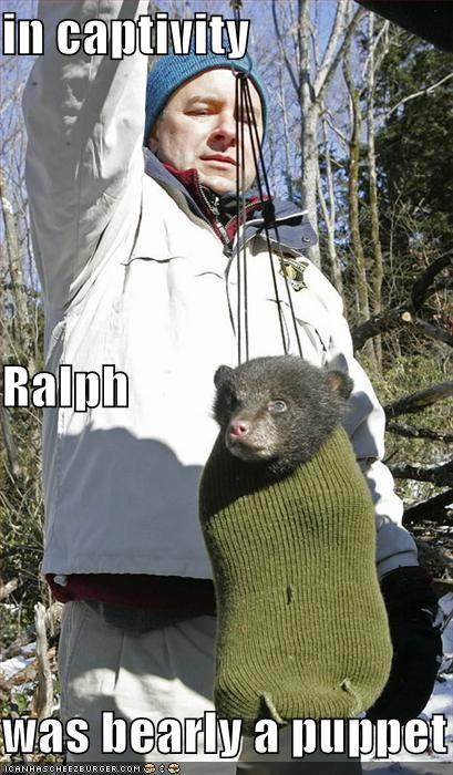 in captivity Ralph was bearly a puppet