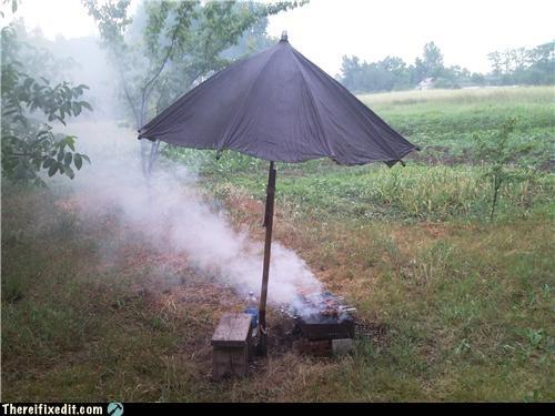 bbq,cooking,umbrella,wtf