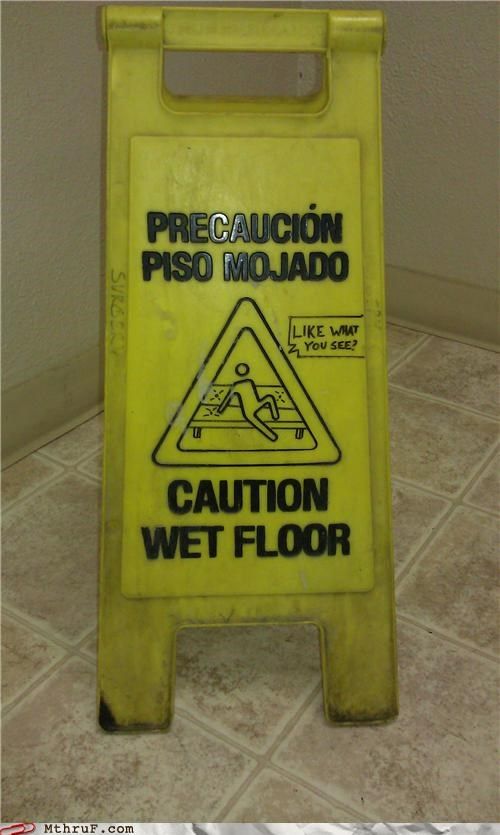 sexy,sign,wet floor sign