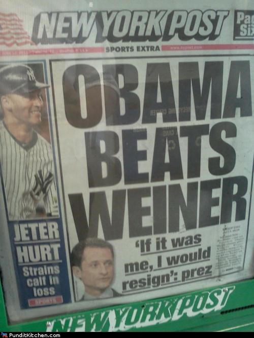 Anthony Weiner,barack obama,New York Post,political pictures