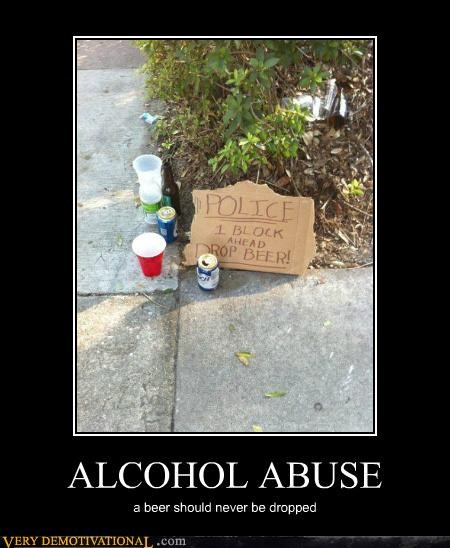 beer,drop,hilarious,police,sign