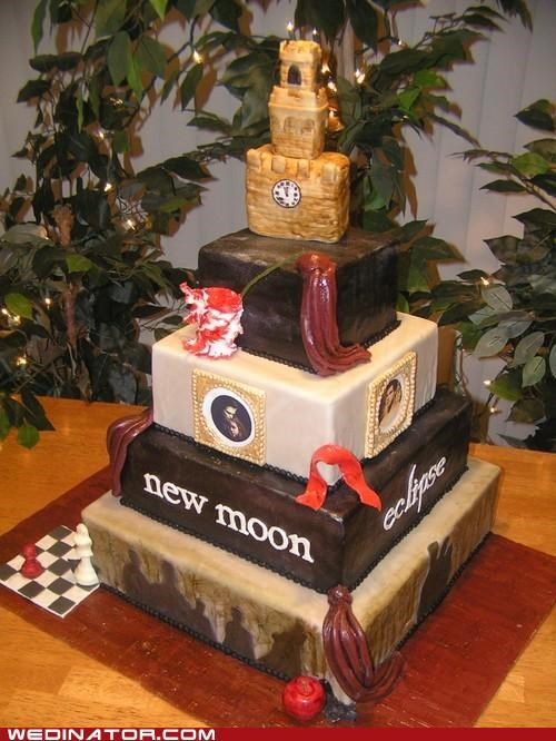 funny wedding photos,twilight,wedding cake