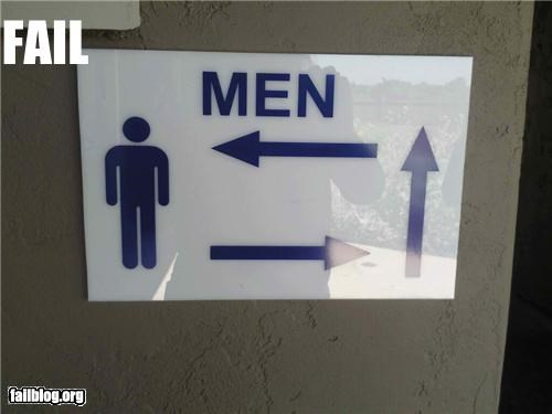 Bathroom Direction FAIL
