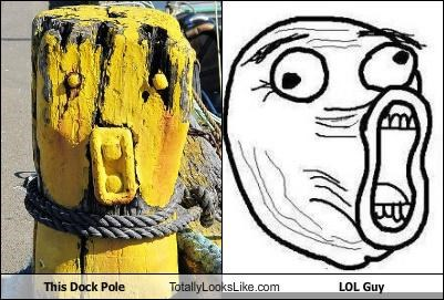 This Dock Pole Totally Looks Like LOL Guy