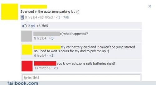 auto zone,battery,facepalm,help