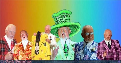 don cherry,hockey,rainbow,suits