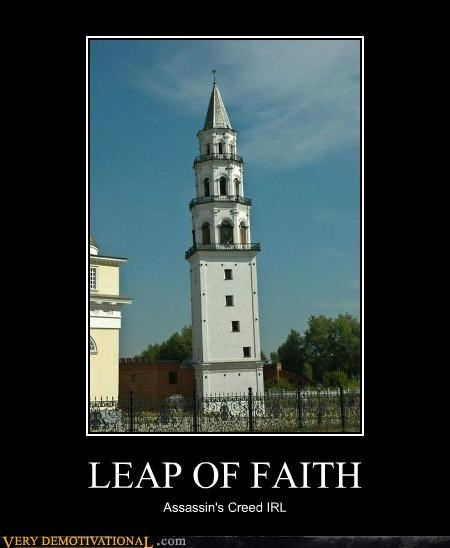 assassins creed,hilarious,IRL,Leap of Faith,video games