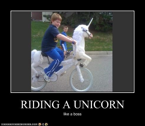 RIDING A UNICORN