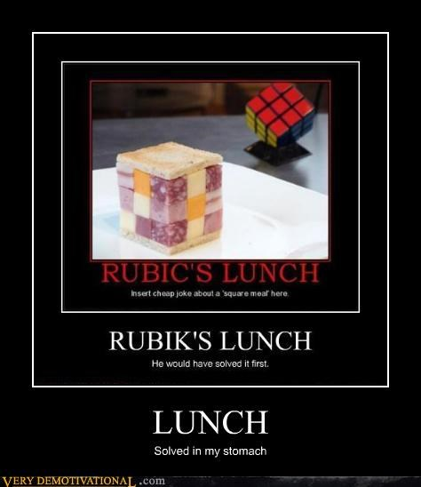 lunch,Pure Awesome,rubiks cube,solved