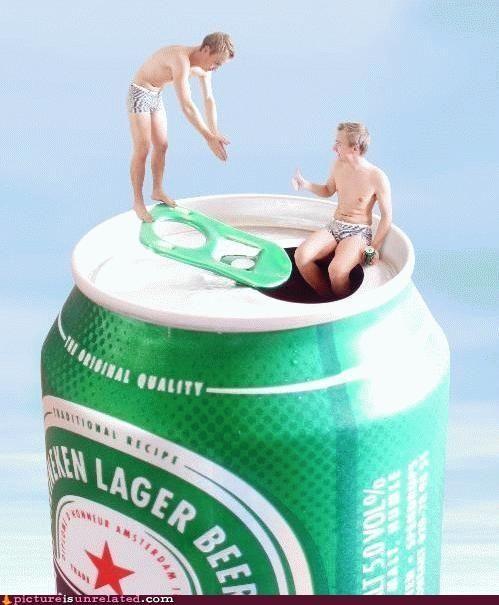 drunks,Heineken,men,tiny,wtf