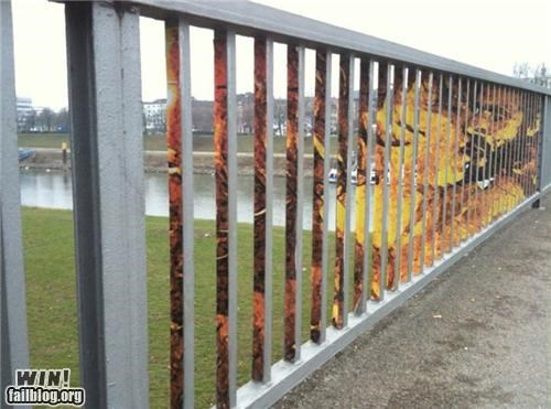art,awesome,Illusions Michael,railings,Street Art