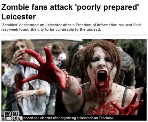Completely Relevant News: ZOMBIE ATTACK WIN