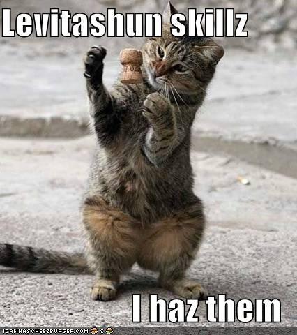 Levitashun skillz  I haz them