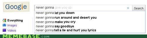 Google's Been Rickrolled