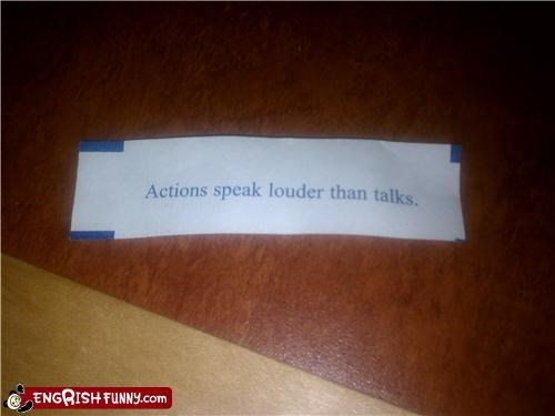 actions,fortune,fortune cookie,words