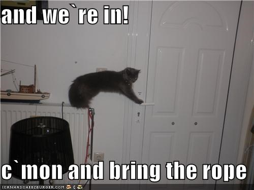 and we`re in!  c`mon and bring the rope